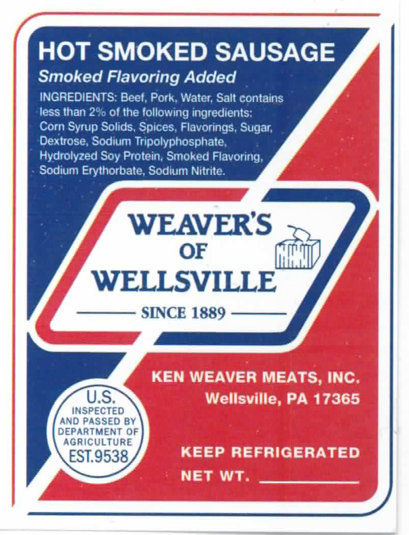 Hot Smoked Sausage Weaver S Of Wellsville